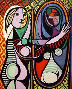 Fille Avant Miroir Imprimé Affiche Giclée Pablo Picasso