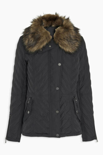 trapuntato con in 12 Successivo collo rimossa ecologica Cappotto da pelliccia giacca tall misura donna wnn4x7q