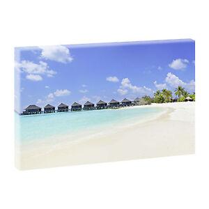 Immagine Su Tela XXL poster parete immagine Spiaggia Mare Panorama -100 cm*65 cm 228  </span>