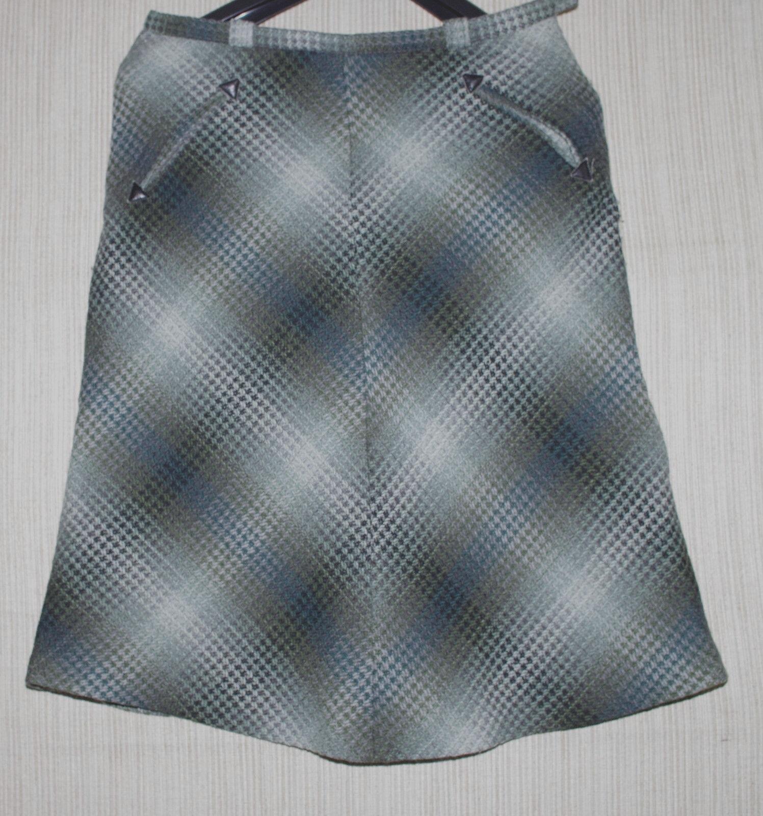 Paul & Joe Green Multi color A-line Knee-length Skirt Size  42