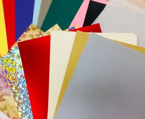30-sheet-PREMIUM-A4-paper-card-pack-holo-silicon-emboss-variety-bumper-craft-set