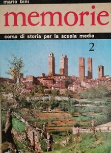 Memorie. Corso di storia per la scuola media 2,  di Mario Bini,  Aristea - ER