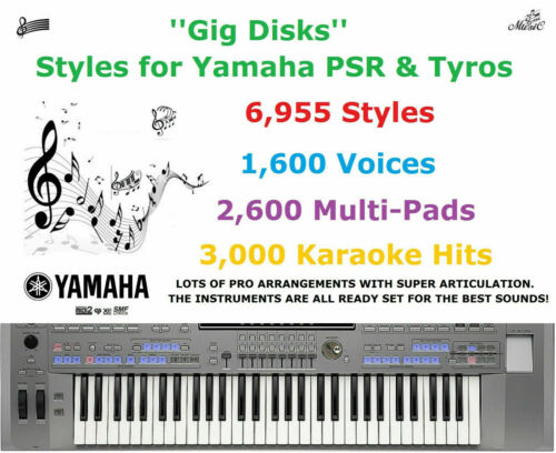 Instant Delivery Yamaha Styles  PSR /& Tyros /'/'Gig Disks/'/'