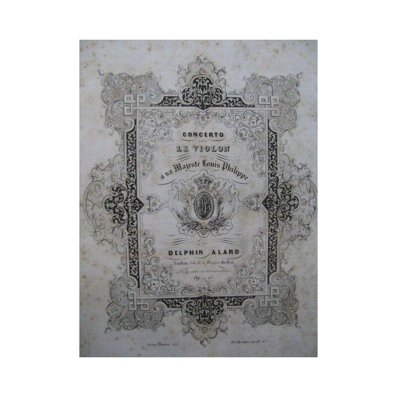 Alard Delphin concerto nicht 1 Violine Piano ca1845 Partitur Sheet Music Score