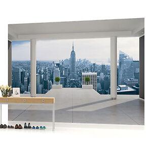 new york city skyline urban photo wallpaper wall mural. Black Bedroom Furniture Sets. Home Design Ideas