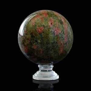 Brave Sfera Pietra Dura Semipreziosa Con Base Semiprecious Hard Stone Sphere D.12cm Art