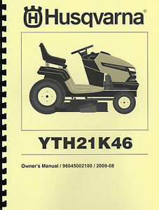 husqvarna yth21k46 lawn tractor owner 39 s manual with parts list. Black Bedroom Furniture Sets. Home Design Ideas