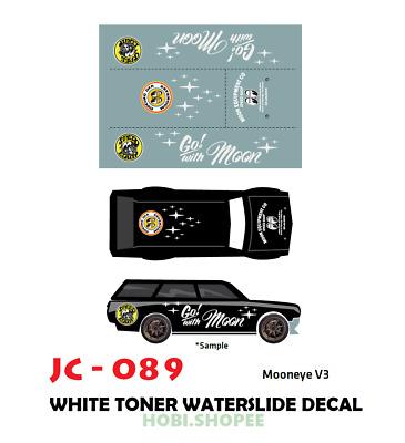 Hot wheels 1//64 white tóner water slide decals