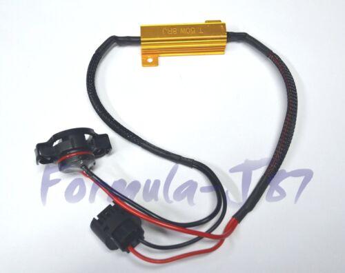 Wire LED Resistor Canceler Error Decoder PS24W 5202 H16 Fog Light Bulb Flicker