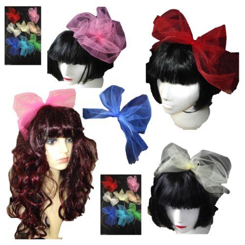 ANNI/'80 FANCY DRESS Hairband Tutu NET BOW GALLINA 8 Colori Anni 80 Alice Banda