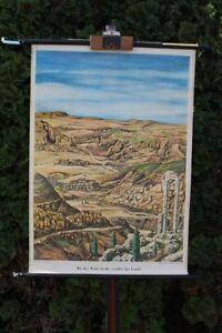 Carte-a-Rouler-Schulwandkarte-Murale-Ou-le-Foret-Ne-Meurt-Verodet-la-Land