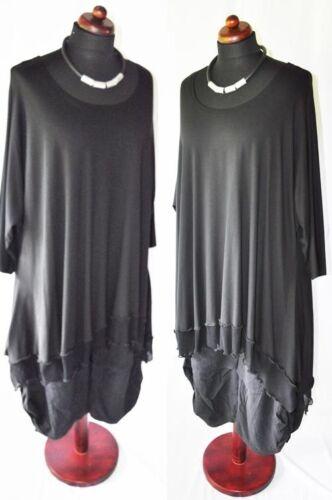 et noir de en longues xxxl superposées tunique xxxxl à jersey mailles Superposition 14fxz04