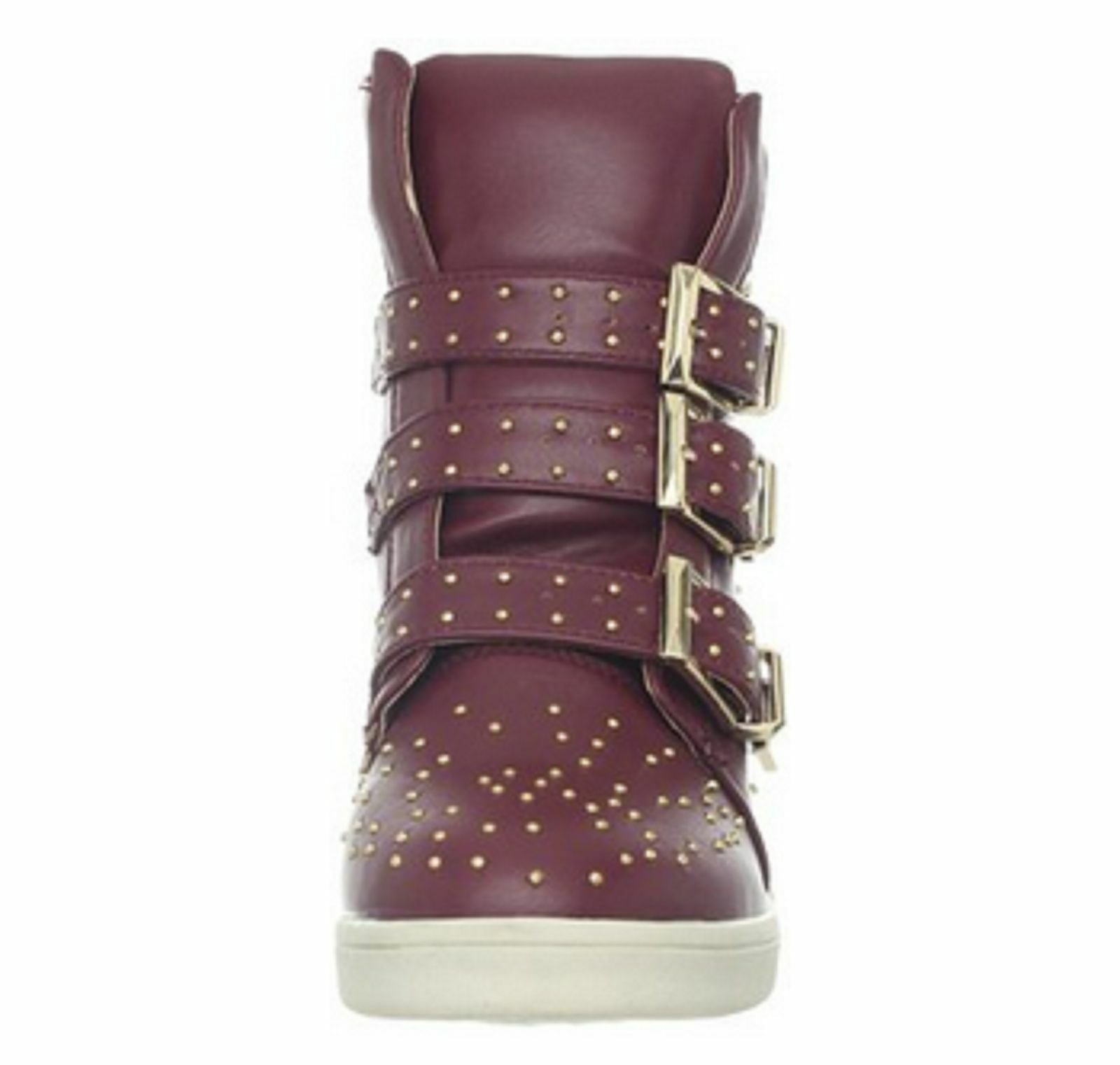 Wanted shoes Women's Gramercy Fashion Sneaker,Burgundy Size 9M US