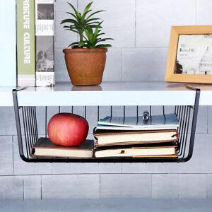 Under Table Shelf Basket Storage Dish Holder Kitchen Mesh ...