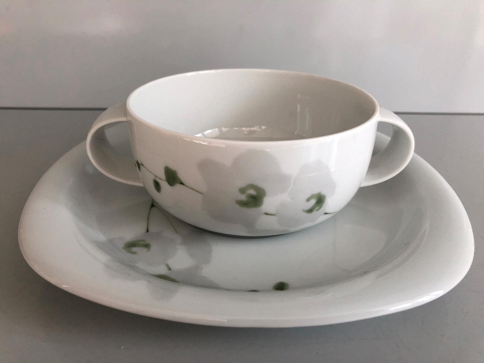 Rosanthal SUOMI Rangoon SUPPENTASSE & UNTERTASSE unbenutzt Soup Soup Soup Cup & Saucer bf9ac8