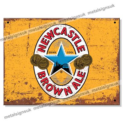 Newcastle Brown Ale retro vintage style metal sign//plaque man cave shed bar pub