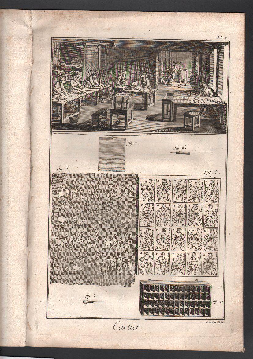 Diderouge  D'Alembert. voiturecravater. Six estampes avec descriptif. 1751  À ne pas manquer!