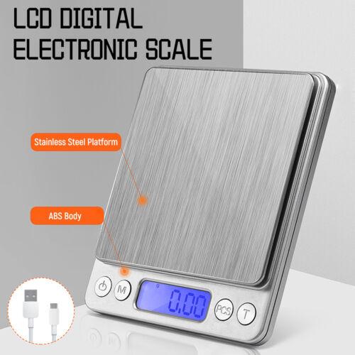 LCD Balance de Cuisine Électronique scale Numérique Haute Précision Recharge USB