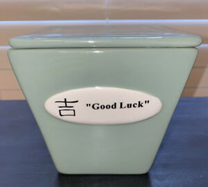 Chinese-Food-Take-Out-Ceramic-Container-Happiness-Multi-Use-GOOD-LUCK