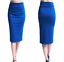 Ladies-Plain-Office-Womens-Stretch-Bodycon-Elegant-Midi-Pencil-Skirt-Dress-S-XXL thumbnail 7
