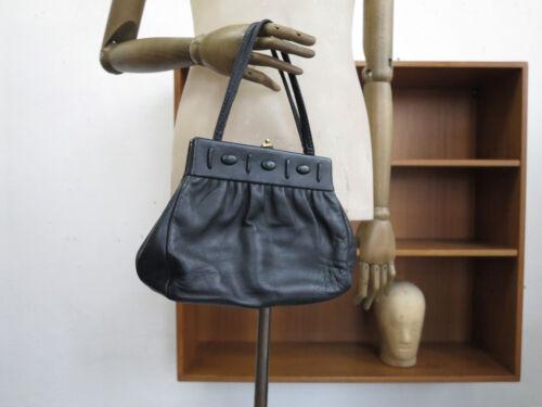 Leder B Black Hand Schwarz Leather mann 60s Rieke Handtasche Tasche Truevintage ExCOwHqaP
