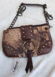 Bnwt Kookai Brown Snake Print Bag