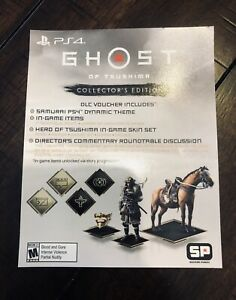 Ghost-of-Tsushima-Collector-s-Edition-DLC-Slip-NO-GAME-Sucker-Punch