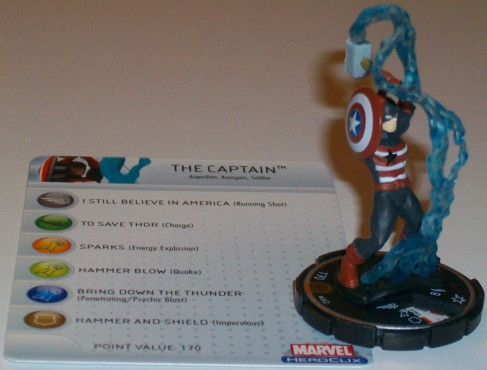 THE Captain Captain America HeroClix Chase Rare