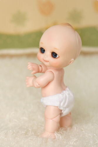 face make up B BJD 1//8 baby doll NAPPY CHOO free eyes