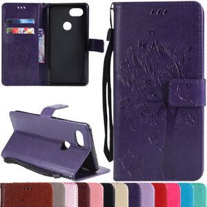 Magnetic-Leather-Credit-Card-Holder-Flip-Case-Cover-For-Google-Pixel-2-2-XL