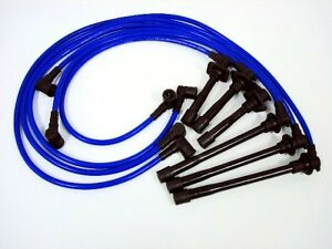 VMS RACING BLUE 10.2MM SPARK PLUG IGNITION WIRES CABLE FOR 90-97 MAZDA MIATA MX5