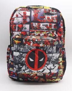 Image Is Loading Marvel Deadpool Backpack School Bag Bookbag Laptop