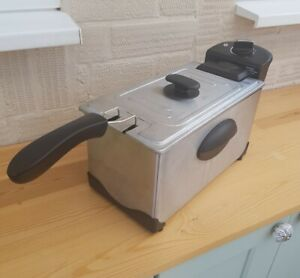 3L Deep Fat Fryer George Asda Cooking Chips Silver Black