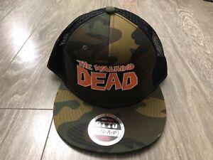 Walking Dead Camo Trucker Hat Baseball Cap Otto One Size New without ... b685508511de