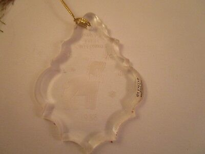 Vintage Lenox Crystal Baby/'s First Christmas 1988 Glass Ornament