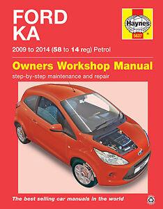 haynes workshop repair manual ford ka petrol 2008 2014 ebay rh ebay co uk ford ka owners manual online ford fiesta owner manual pdf