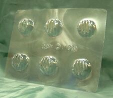 ROUND SWEET / CHOCOLATE / CANDY MOULD / MOLD - 6 impression FREE 1st CLASS P&P