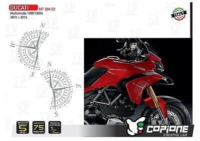 Aufkleber Ducati für Seiten Multistrada 1200 2010-2014