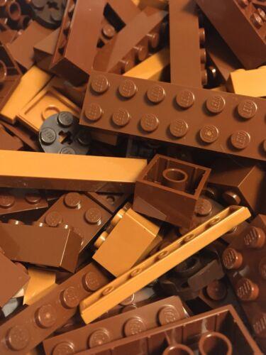 Brown Lego 200 Piece Lot Brick Plate Tile Slope Detail Star Wars LOTR Potter