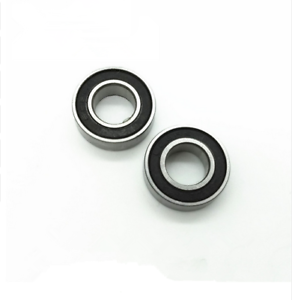 MR74-2RS Metal Rubber Ball Bearing Bearings BLACK MR74RS 5 PCS 4x7x2.5 mm