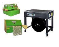 WOW: halbautomatische Umreifungsmaschine + Verpackungspolstermaschine Umreifen