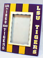 Lsu Tigers Collegiate Licensed Wooden Photo Picture Frame 4 X 6