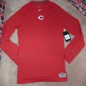 3826ca61e NEW MLB Cincinnati Reds L/S Therma Base Combat NIKE Dri Fit Shirt ...