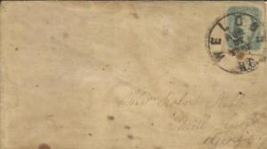 Confederate States Sc#11-four Margins Weldon N.c. To Mill Grove Ga