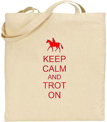 Keep Calm And Trab Auf Großen Baumwolltasche Einkaufstasche Geschenk Weihnachten