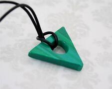 Coraline GREEN Looking Stone Necklace Polymer Clay Handmade