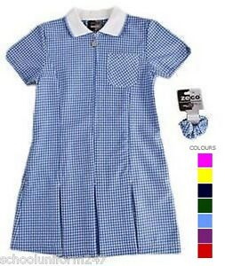 f9c288feed7 LARGE SIZE SCHOOL SUMMER GINGHAM DRESSES SCHOOL WEAR UNIFORM SIZE 36 ...
