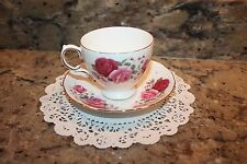 QUEEN ANNE BONE CHINA TEA CUP & SAUCER SET PATTERN #8627 MADE IN ENGLAND