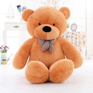 Giant 60cm Big Cute Brown Plush Teddy Bear Huge Soft Toys Doll Birthday Hot Gift