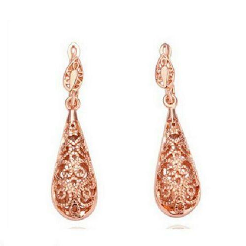 18KT Platinum Gold Silver kpop Fashion Vintage Women Bride Stud Earrings ED66